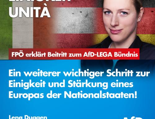 FPÖ macht Teilnahme am AFD – LEGA Bündnis offiziell