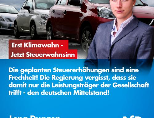 """Nach schwachsinnigen """"Klima-Demos"""" und noch unsinnigerem Elektro-Auto-Wahn folgt nun der Steuerhammer!"""