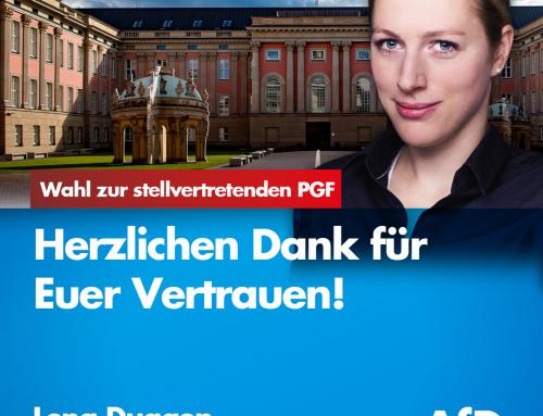 Wahl zur stellvertretenden parlamentarischen Geschäftsführerin der AfD-Fraktion im Landtag Brandenburg