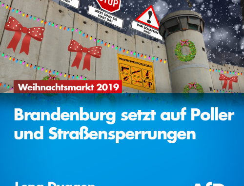 Weihnachtsmärkte 2019 – Brandenburg setzt auf Poller und Straßensperrungen