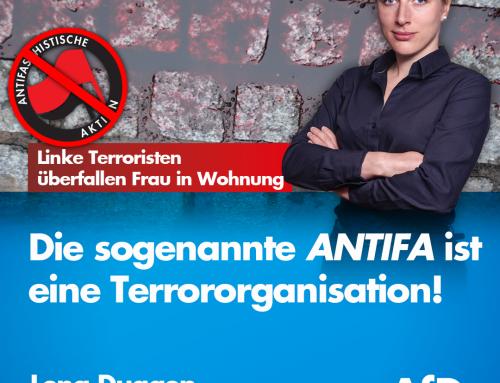 Linke Terroristen schlagen auf Frau in ihrer eigenen Wohnung ein