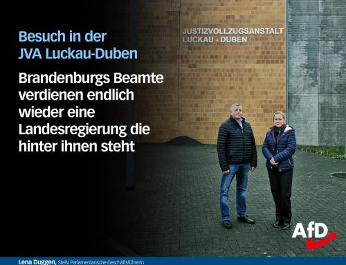 Begehung der Justizvollzugsanstalt Luckau-Duben