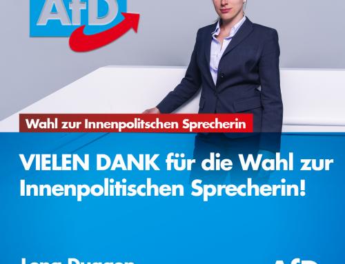 Wahl zur Innenpolitischen Sprecherin der AfD-Fraktion im Landtag Brandenburg