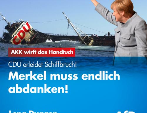 Annegret Kramp-Karrenbauer wirft das Handtuch