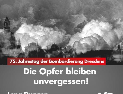 75. Jahrestag der schrecklichen Bombardierung Dresdens