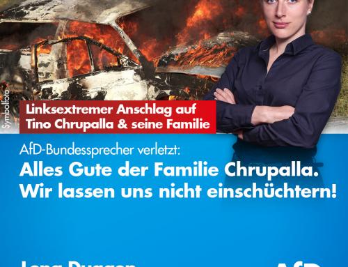 Offensichtlich linksextremer Brandanschlag auf Tino Chrupalla und seine Familie – AfD-Bundessprecher verletzt