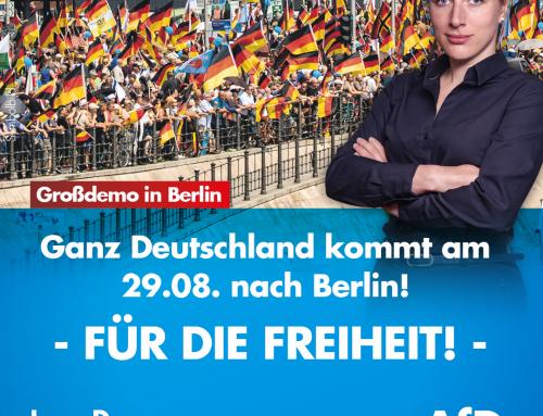 Kommt am 29.08. zur Großdemo nach Berlin! Für die Freiheit!