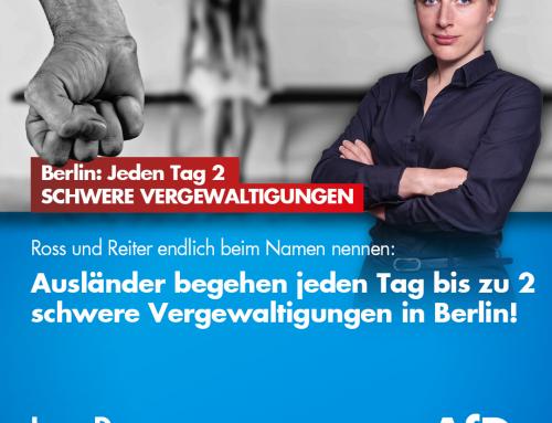 Ross und Reiter endlich beim Namen nennen: Ausländer begehen laut Studie bis zu zwei schwere Vergewaltigungen täglich allein in Berlin