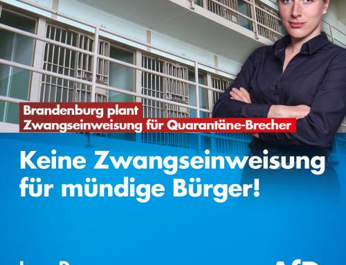 Brandenburg plant Zwangseinweisung für Quarantäne-Brecher