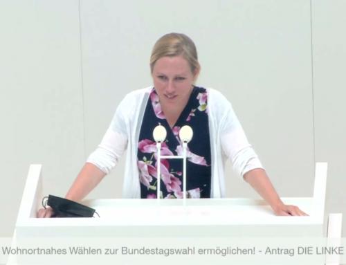 """Mein Redebeitrag zum Antrag der Linken """"Wohnortnahes Wählen zur Bundestagswahl ermöglichen!"""""""